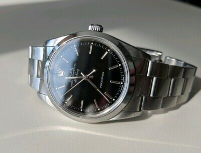 ROLEX AIR KING 14000 Series Watch Black Dial