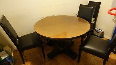 """Copper Top Dining Table and Chairs 46"""" - Crate & Barrel"""