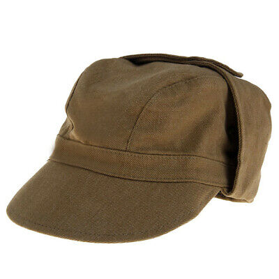 Authentic Khaki Russia Military Cap USSR Soviet Army Afghan Hat Size 57 ORIGINAL