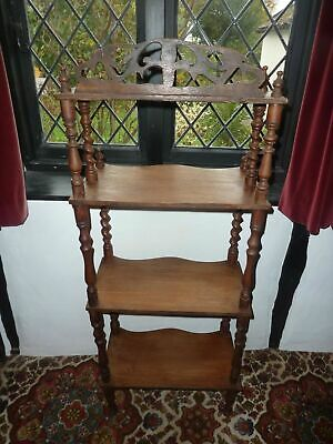 19Th Century Mahogany Wot-Not Stand 4  Shelves Measures Vgc For Age