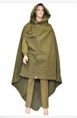 Russian USSR Cape Cloak Tent Military Field Canvas Army Poncho ПЛАЩ-ПАЛАТКА
