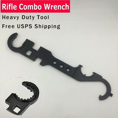 USA Outdoor Combat Wrench Multi Barrel Nut Spanner Steel Tactical Tool Free Ship