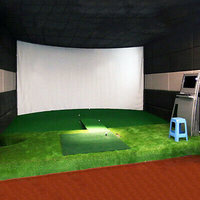"Golf Ball Training Simulator Impact Display Projection Screen Indoor 118.11"" Q5"