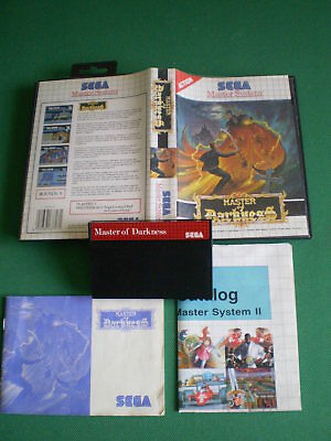 Sega Master System MASTER OF DARKNESS ( Castlevania ) Complet Boxed Manual PAL