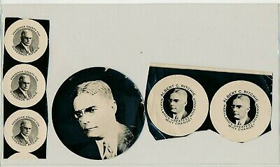 1919 Albert Ritchie for governor - button papers Maryland MD