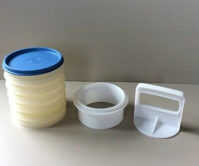Vintage Tupperware Burger Press And Stacking Storage.