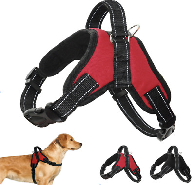 Adjustable Reflective No Pull Pet Dog Harness UK STOCK NEW