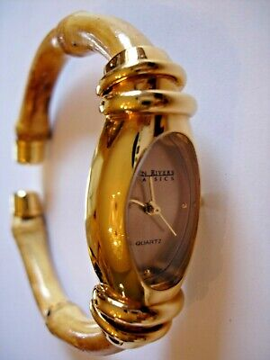 JOAN RIVER'S CLASSICS COLLECTION WOMEN'S  WATCH gold tone with bamboo band