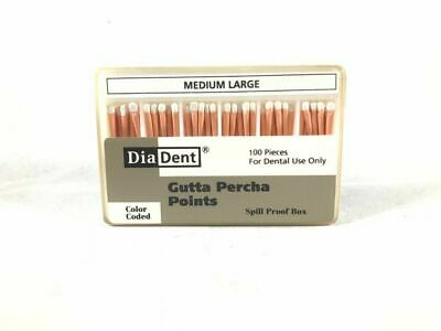 DIADENT Gutta Percha Points Endodontic Product (100 Pieces) Size MEDIUM LARGE