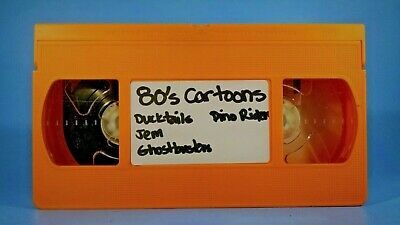 Custom Orange 80's Cartoon VHS Sold As Blank Toy Commercials Jem DuckTales COPS