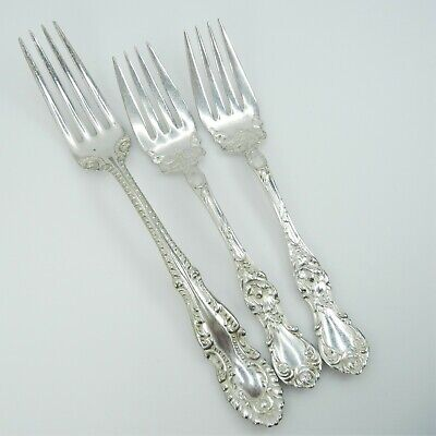 Antique R Wallace 1835 Wm Rogers Forks Silver Plate Silverplate floral craft