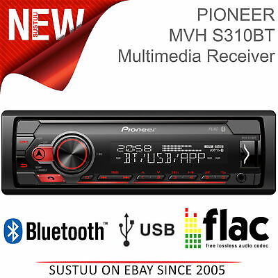 Pioneer Stereo│1-DIN Mechless Radio │ Media Player │Bluetooth │ USB │ Android