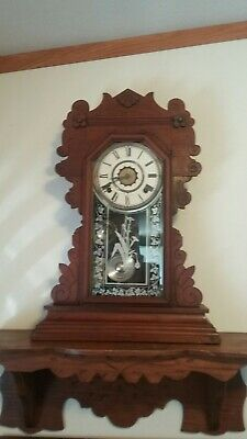 Waterbury Gingerbread Kitchen Clock with Shelf!