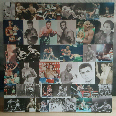 Classic US Boxing Legends Collage Canvas Print - Wooden Stretcher Frame