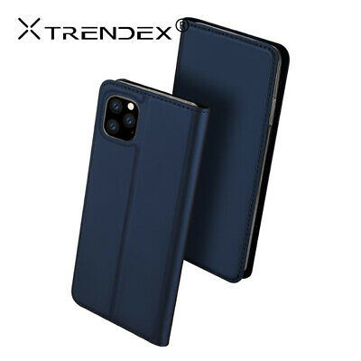 For iPhone 11 Pro Max XS Genuine TRENDEX Magnetic Leather Wallet Flip Case Cover