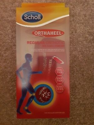 Scholl ORTHAHEEL SMALL S Regular Orthotic Heel & Ankle Stabiliser Shoe Insole