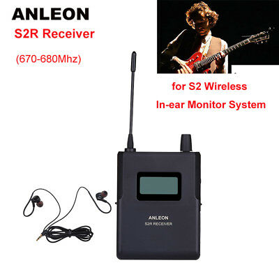 ANLEON S2-R Receiver For Wireless Stereo In-ear System IEM Stage UHF 670-680Mhz