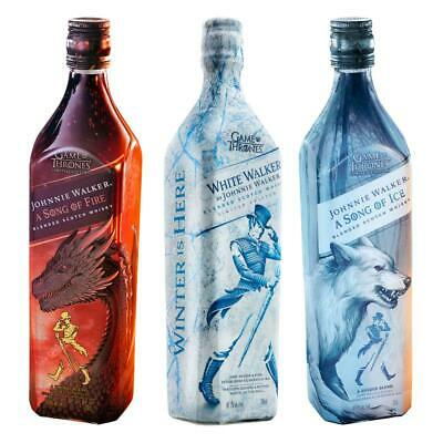 Johnnie Walker A Song of Fire & Ice Whisky +White Walker Game of Thrones 3x700ml