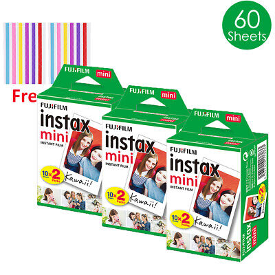 Fujifilm Instax Mini Film White 60 Sheets - Fuji 7s 8 9 70 90 Camera Share SP-2