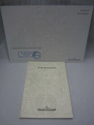 Jaeger LeCoultre Master Ultra Thin Watch Ref Q1458504 Guarantee Certificate+Book