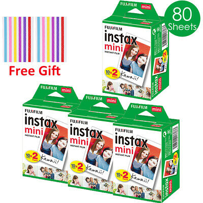 Fujifilm Instax Mini 80 Film For Fuji 7s 8 9 Camera Share SP-2 Polaroid 300