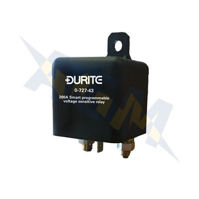Durite 0-727-43 Split Charge Smart Programme Intelligent VSR Relay 12v 200Amp