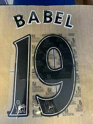 RYAN BABEL 19 LIVERPOOL Black Official Lextra Name & Number 2007 - 2013