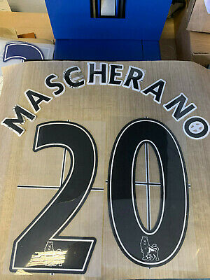 JAVIER MASCHERANO 20 LIVERPOOL Black Official Lextra Name & Number 2007 - 2013