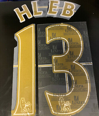 Hleb 13 Arsenal adults Gold Lextra Player Size Official Name & Number