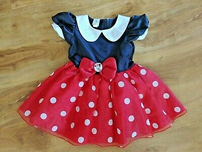 DISNEY BABY MINNIE MOUSE COSTUME DRESS UP Size 9-12 MONTHS BABY GIRL COSTUME