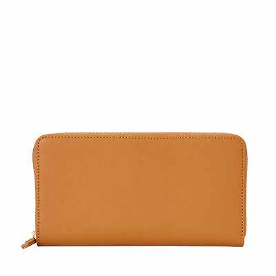 Samsonite Ladies Leather Zip Around Wallet Cognac - Luggage