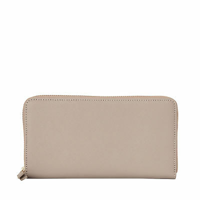 Samsonite Ladies Leather Zip Around Wallet Light Grey - Luggage