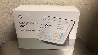 Google Home Hub with Google Assistant (GA00515-US) - Charcoal (6290306) Sealed