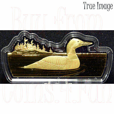 2020 - Real Shapes #1 - The Common Loon - $50 3 OZ Pure Silver Proof Coin