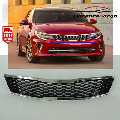 Fits For Kia 2016 2017 2018 Optima Front Grill Black and Chrome Grille