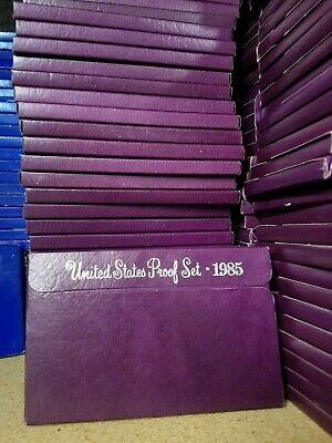 (10) 1985-S US Mint Proof Sets Coin Collection Dealer Lot w/ Box