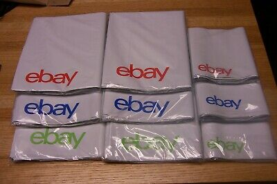 "306 eBay-Branded Polymailer Red Green Blue 102 - 6.25"" x 8.5"" & 204 - 9"" x 11.5"""