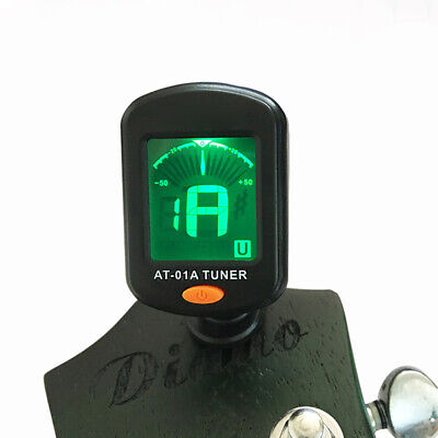 Clip-On Chromatic Digital Tuner For Acoustic Electric Guitar Bass Ukulele Oud
