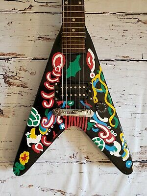 Hand Painted Gibson Maestro Flying V Hendrix Saville Love Drops