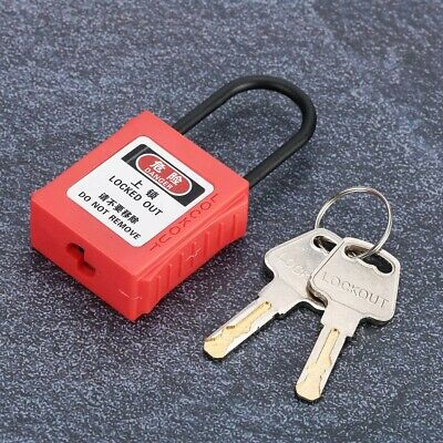 Safety Lockout Padlock PA Nylon Safety Lock For Industrial Engineering Isolation