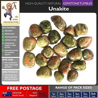 Unakite Gemstone Tumbles | Natural Gem Stone | Crystal | Tumbled Polished