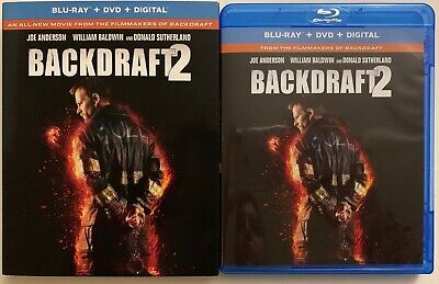 Backdraft 2 Blu Ray Dvd 2 Disc Set + Slipcover Sleeve Free World Wide Shipping