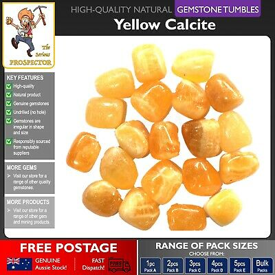 Yellow Calcite Gemstone Tumbles | Natural Gem Stone | Crystal | Tumbled Polished