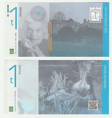 UK Totnes 1 5 10 21 Pound 2014 UNC Local Currency 4th Issue Banknote Set - 4 pcs