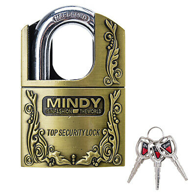 Mindy Zinc Alloy Anti-Theft Padlock Shackle Lock with Keys Sport Gym Locker