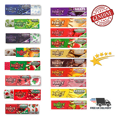 JUICY JAYS BIG SIZE Rolls/King Size Smoking Rolling Papers Fruity Flavours NEW