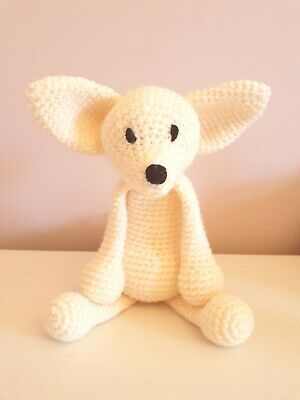 Toft Stephanie The Fennec Fox Handmade Crochet Soft Toy From Edward's Menagerie