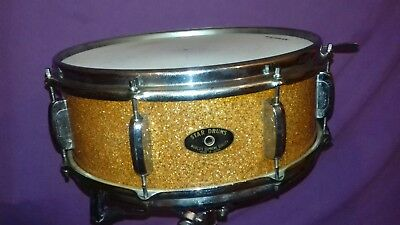 Very rare Vintage STAR (early TAMA) 14x5 GOLD GLASS GLITTER snare drum gc MIJ