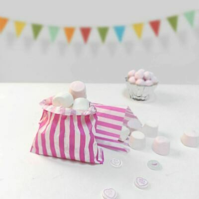 50 X Candy Stripe Paper Bags Sweet Favour Buffet  Gift Shop Party Offer