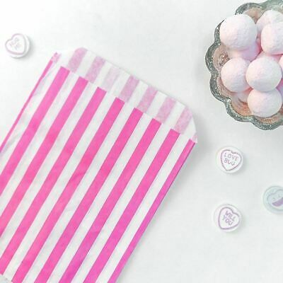 25 X Candy Stripe Paper Bags Sweet Favour Buffet  Gift Shop Party